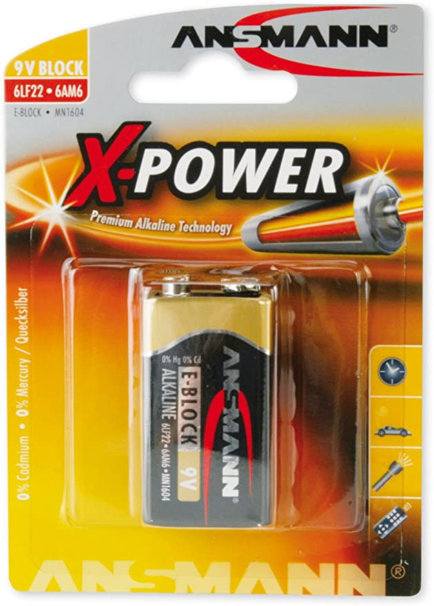 Ansmann X Power Alkaline Batterie 9v E Block 6lf22 Elektronik