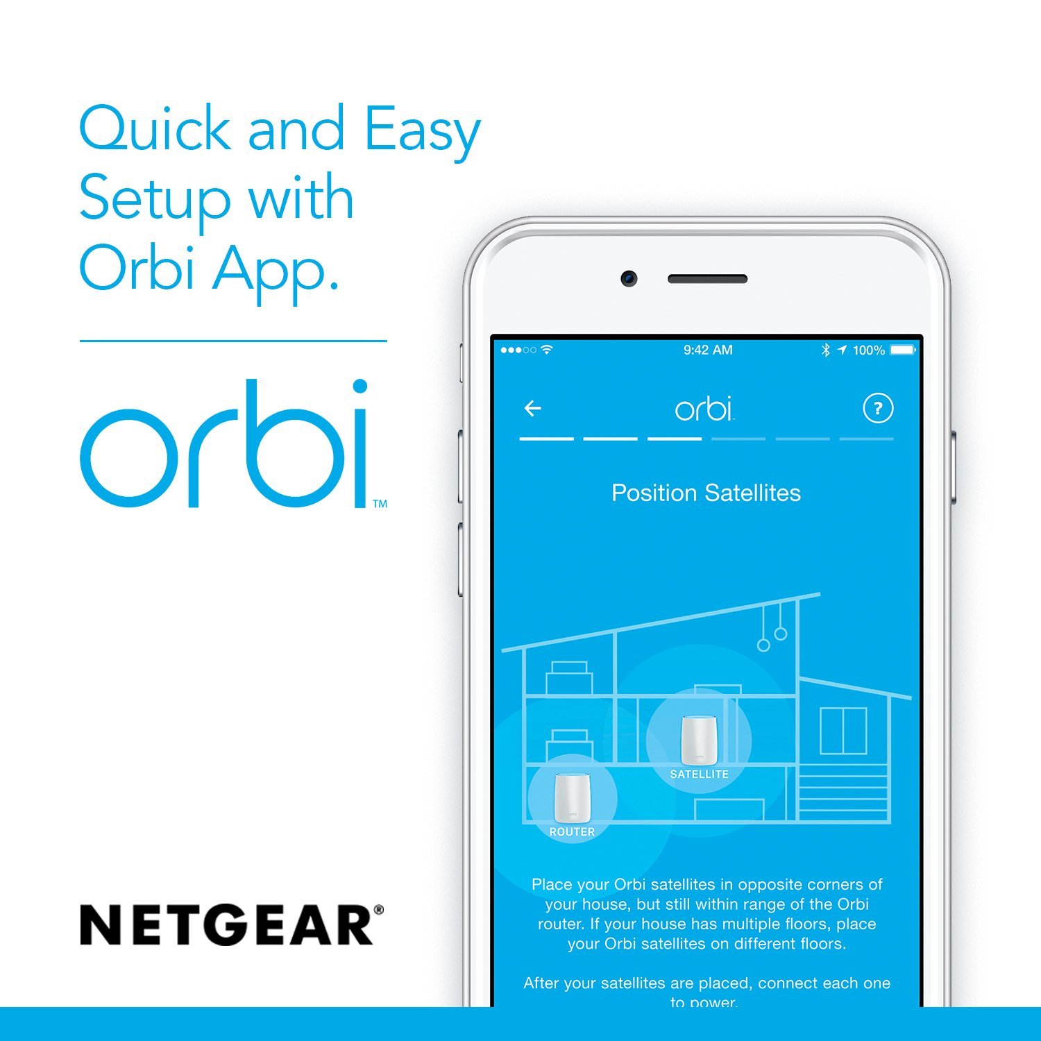 NETGEAR Orbi Whole Home Mesh WiFi System with Tri-band – Eliminate WiFi dead zones, Simple setup, Single network name, Works with Amazon Alexa, Up to 5,000 sqft, AC3000 (Set of 2) by NETGEAR (Image #4)