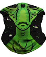 INTO THE AM Scary Halloween Seamless Face Mask Bandanas for Dust, Music Festivals, Raves, Riding, Outdoors - Choose from Many Designs