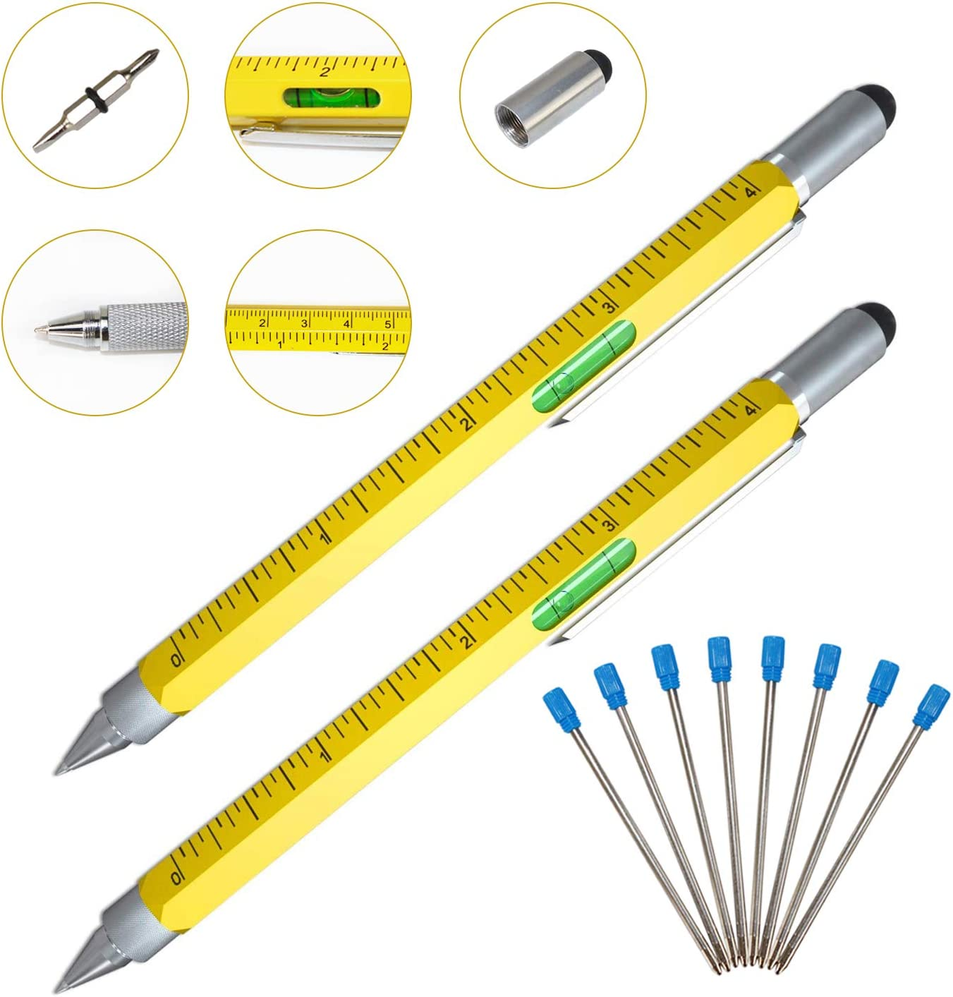 Xtreme 6 in 1 stylus pen level Stylus Flathead Pen screwdriver Ruler SALE