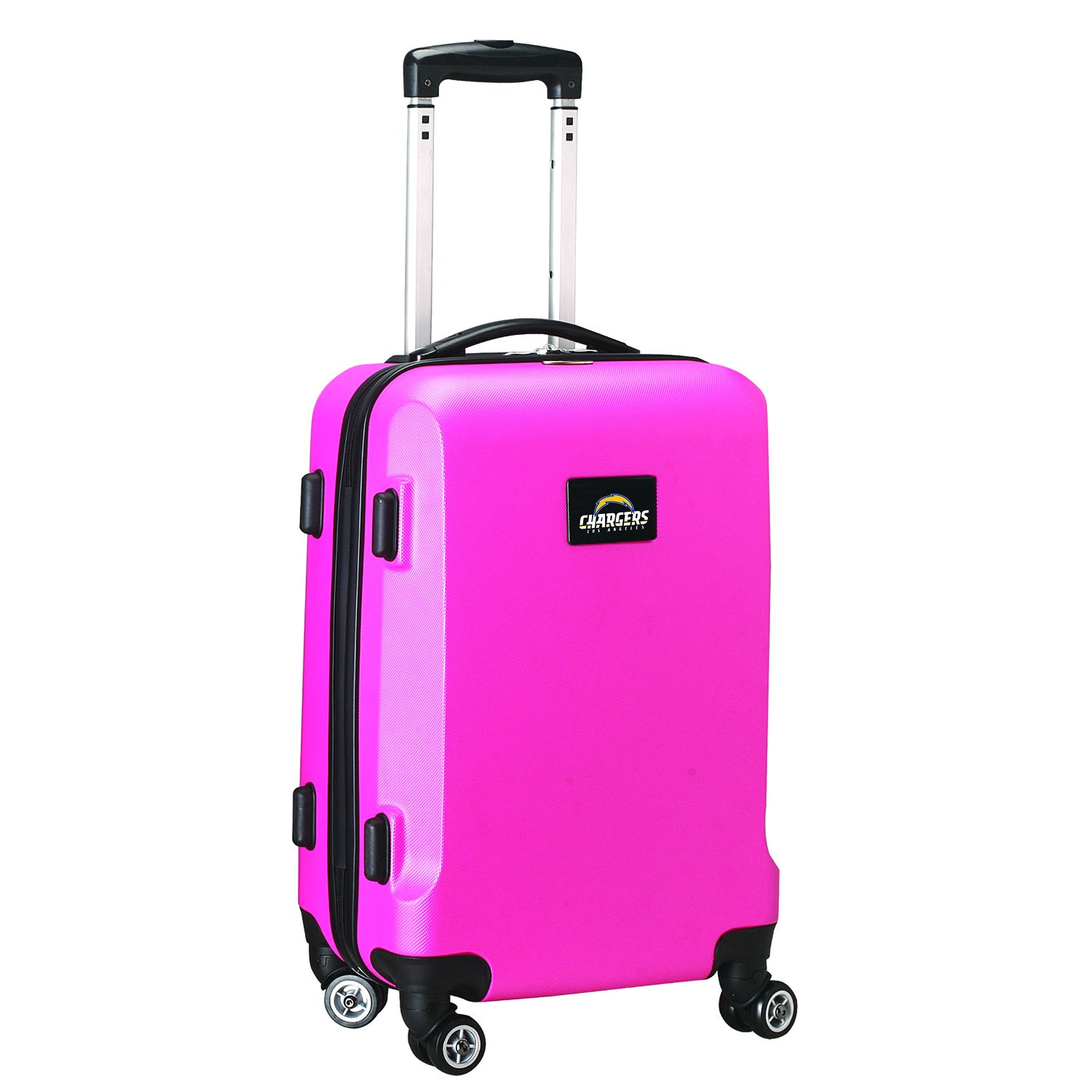 NFL Los Angeles Chargers Carry-On Hardcase Spinner, Pink by Denco