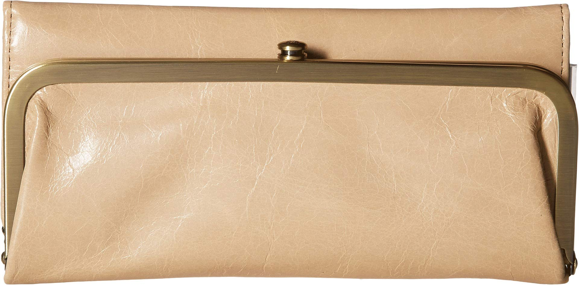 Hobo Womens Rachel Vintage Wallet Leather Clutch Purse (Parchment)