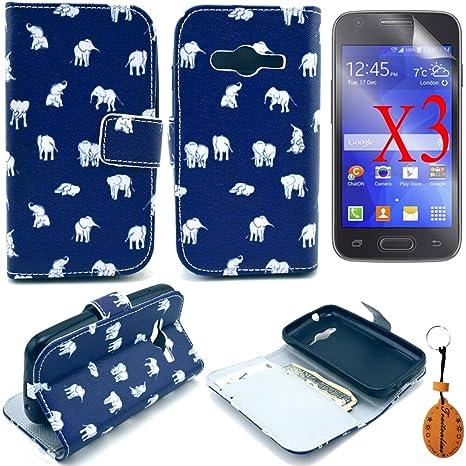 3c650467a1e Traitonline Pintura Colorida Serie Funda Samsung G313H Carcasa De Piel  Delgada Fina Tipo Cartera Wallet Case ...
