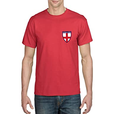 77335c66a Retro England Football Shirt - Three Lions, Front and Back Print, World  Cup, Russia 2018, 1966 Shirt: Amazon.co.uk: Clothing