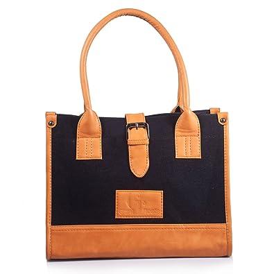 2ff0fb89600b Women s Designer Canvas Top-Handle Handbag By Giant Roots  Amazon.in ...