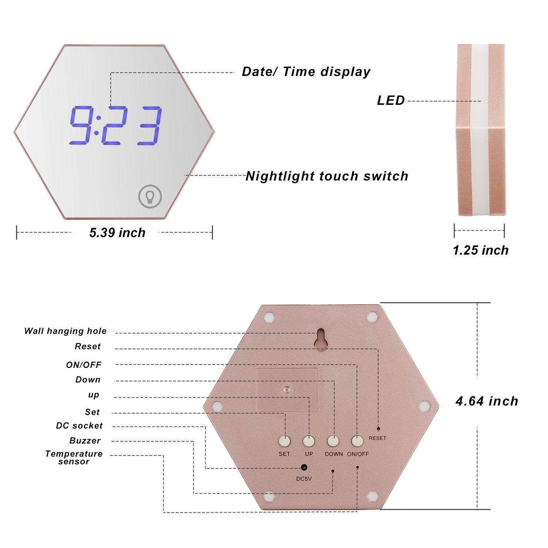 LED Interni Esterni Stazione Meteo di umidit/à di Temperatura Sveglia RF Remote Sensor PowerLead Wake-up Light