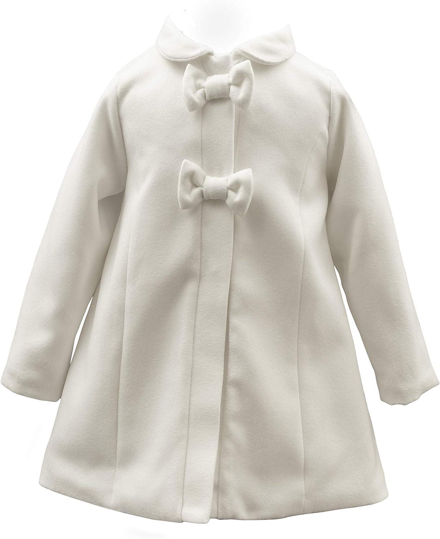 SixforKids Elegant Baptism Coat Lined Coat Jacket Baptism White//Ivory
