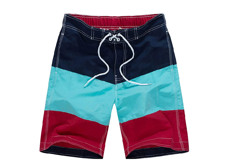 disiren Men Board Short Swim Shorts Patchwork Mens Swimming Shorts for Men Surfing Beach Shorts Swimwear