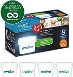 Aqua Optima Evolve confezione 8 mesi, 4 filtri per acqua x 60 giorni - adatto *BRITA Maxtra (non *Maxtra+) - EVD415