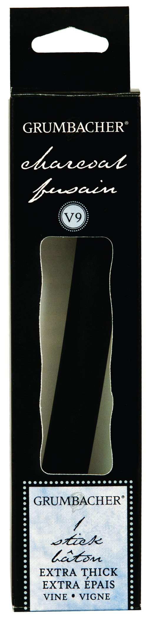 Grumbacher Jumbo Vine Charcoal, Medium, Dark Gray, 1 Pack (V9) by GRUMBACHER