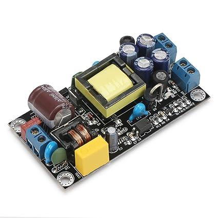 DROK AC 85-264V/ DC 110-370V to DC 5V/12V 1A Isolated Switching Power  Supply, AC to DC Power Transformer Adapter with Dual Output, 120V 110v ac  to 12v