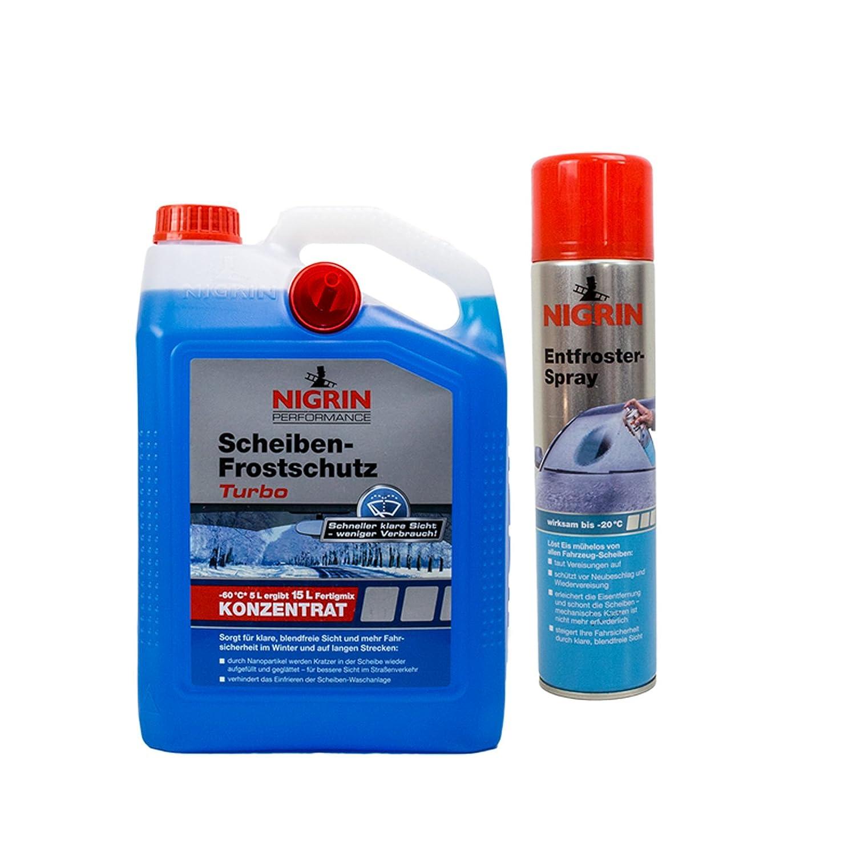 Nigrin de discos de protección contra heladas Turbo de 60 °C 5L + deshielo Spray 400 ml: Amazon.es: Coche y moto