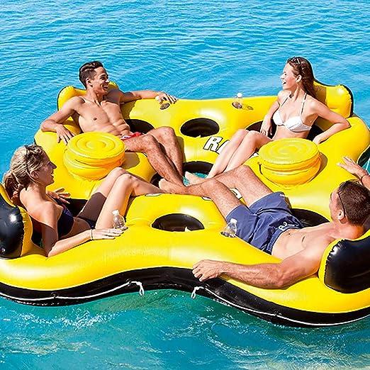 Silla Flotante Inflable De La Fila Flotante De Agua Isla Flotante ...