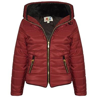 30d3aa095 A2Z 4 Kids® Girls Jacket Kids Stylish Padded Puffer Bubble Faux - Puffer  Jacket Red