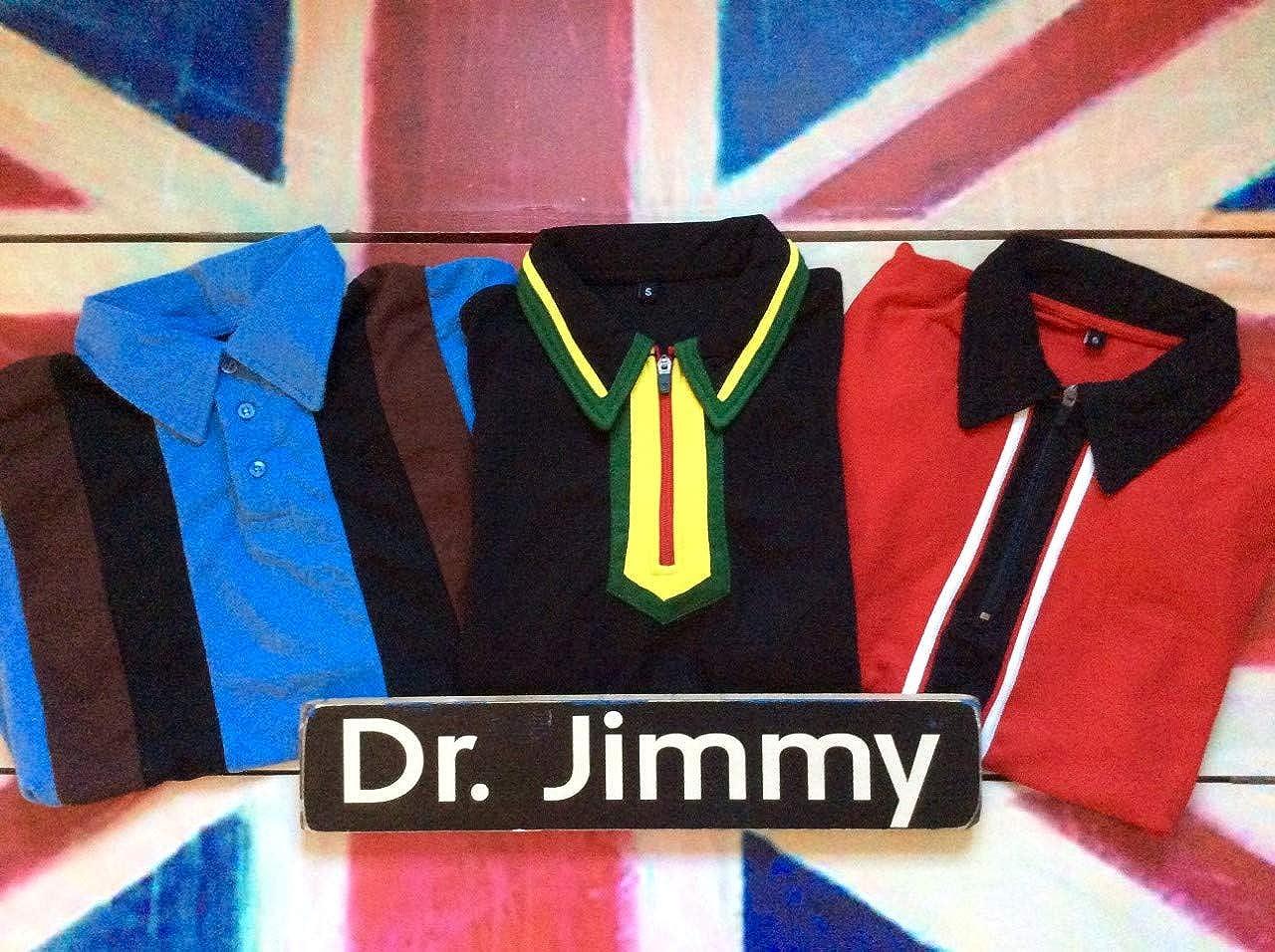 Dr. Jimmy - Polo para hombre, estilo retro, modelo MOD, Ska ...
