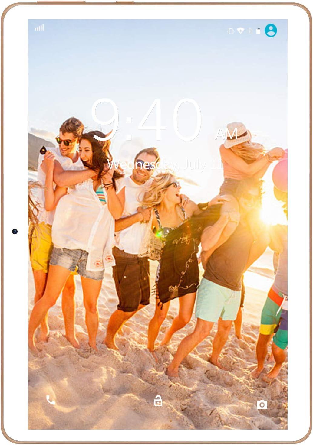 4G LTE Tablet 10 Pulgadas YOTOPT - Android 9.0, 4GB RAM y 64GB ROM, GPS/Bluetooth/WiFi Soporte (Blanco)…