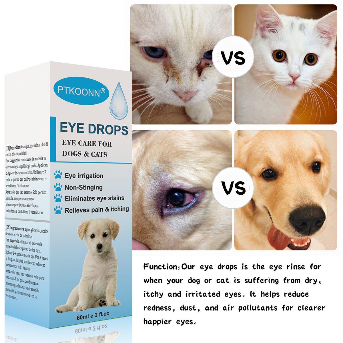 Limpiador Lagrimal Para Perros, Limpiador ocular para perros,Elimina los Residuos de Los Ojos y Previene las Manchas, para Perros,Gatos,Conejos y ...