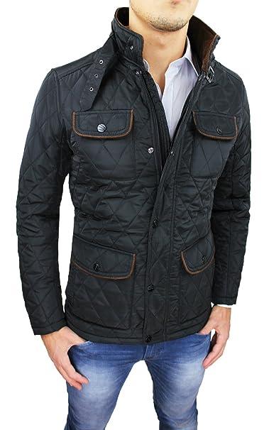 trapuntato invernale giacca nero Giubbotto uomo bomber piumino wqIBaa