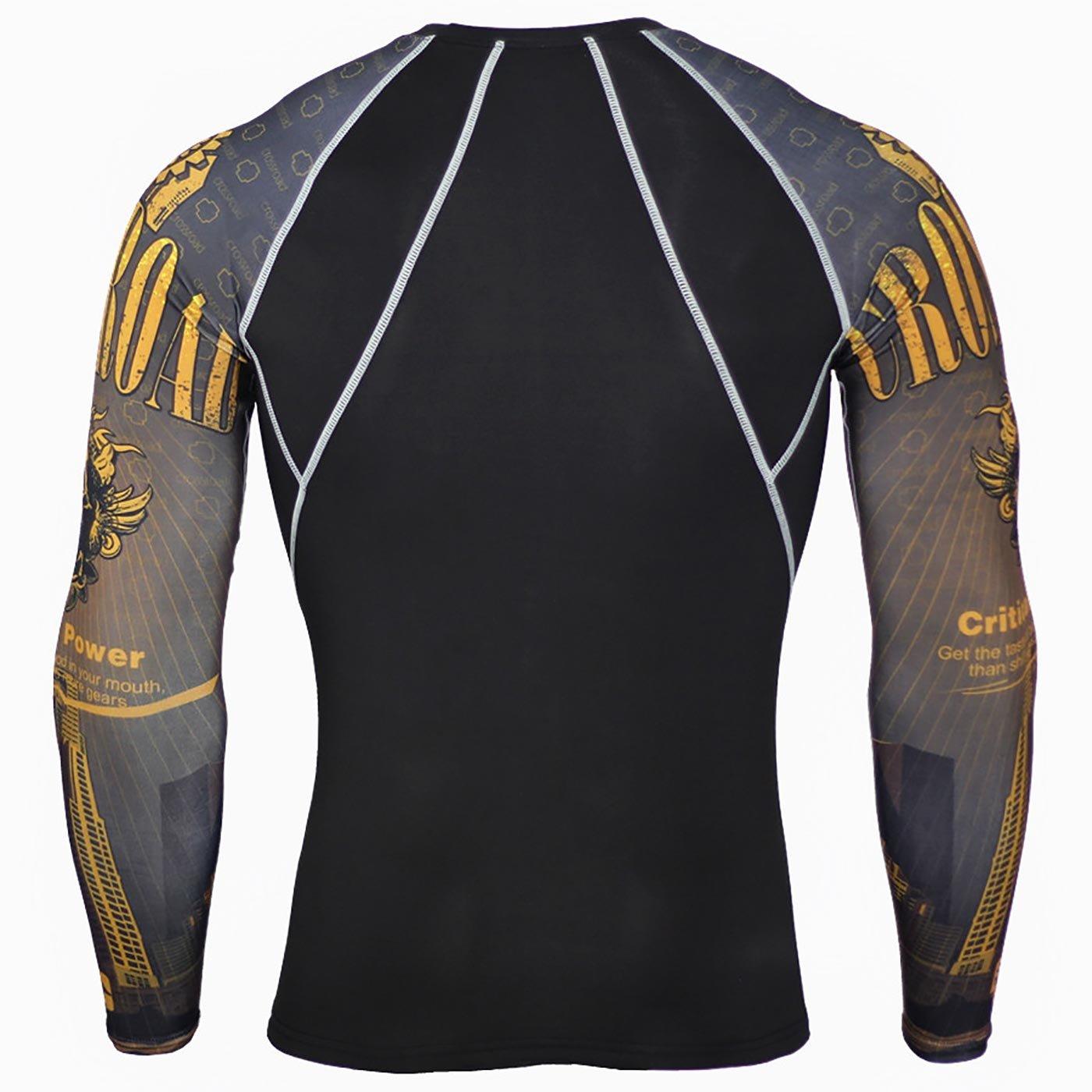 Panegy Mens Compression Shirt Baselayer Sports Apparel Long Sleeve T Shirts