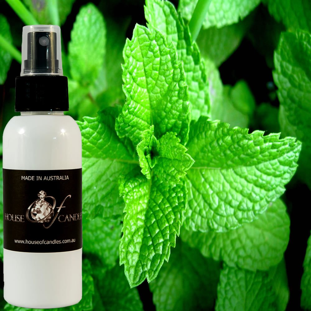 Fresh Peppermint Car Air Freshener Spray/Deodoriser Mist XSTRONG 50ml/1.7oz Vegan & Cruelty Free House Of Candles