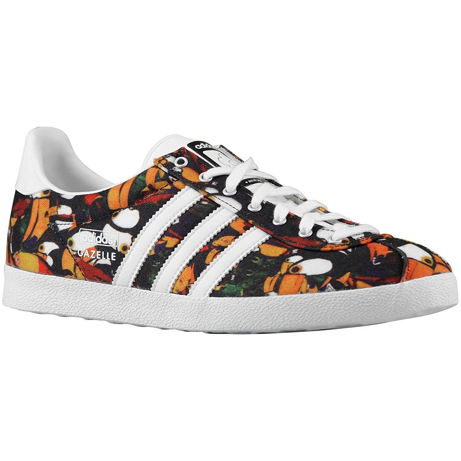 Amazon.com | Adidas Gazelle OG WC Farm W Black Multi Womens Trainers 6.5 US  | Running