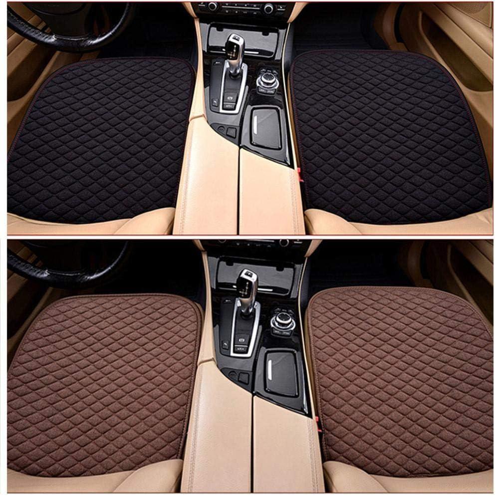 Wetour Universal Autositzauflage Beige Auto Sitzkissen Vorne Hinten Sitzbezug Mit Seitentasche Sommer Auto Sitzbezug Leinen Atmungsaktiv Sitzauflage Auto