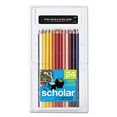 Prismacolor 92805 Scholar Colored Woodcase Pencils 24 Assorted Colors/Set: Toys & Games