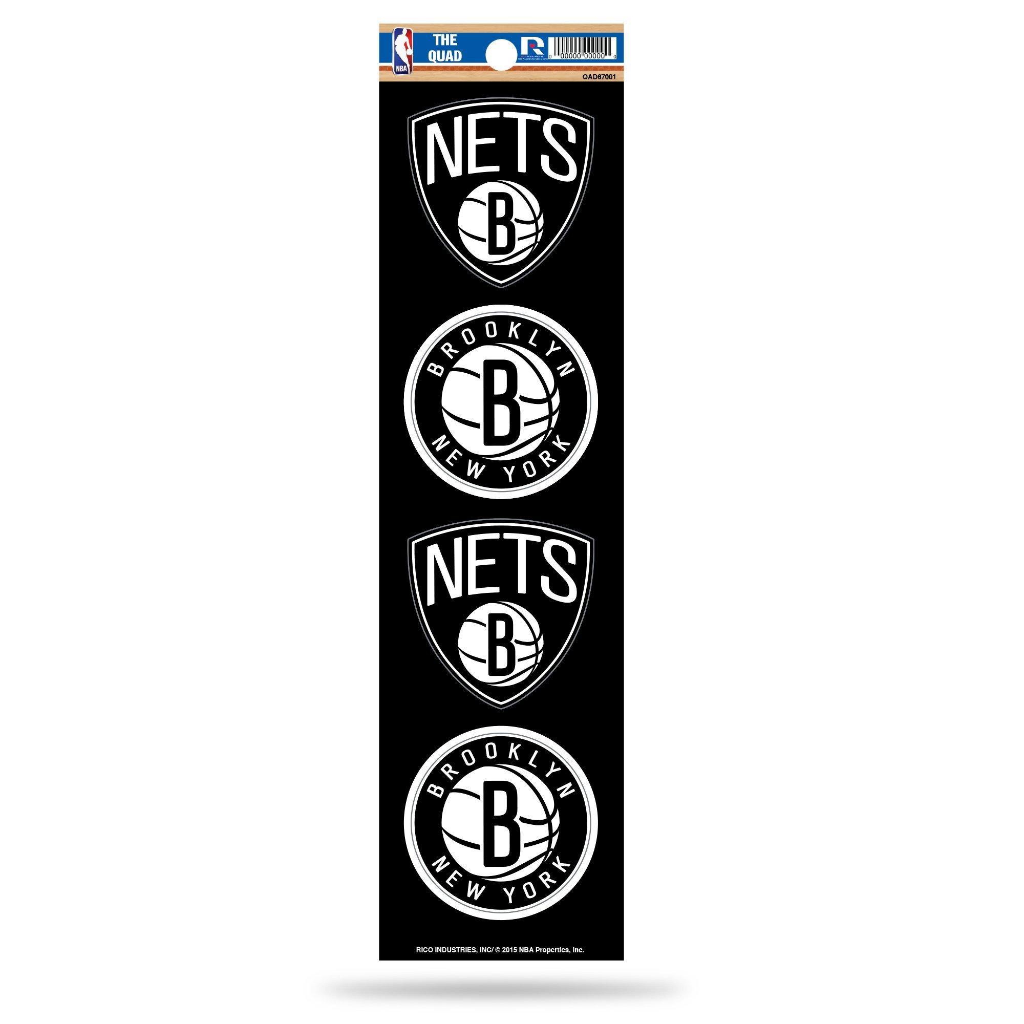 Rico NBA Brooklyn Nets Die Cut 4-Piece The Quad Sticker Sheet