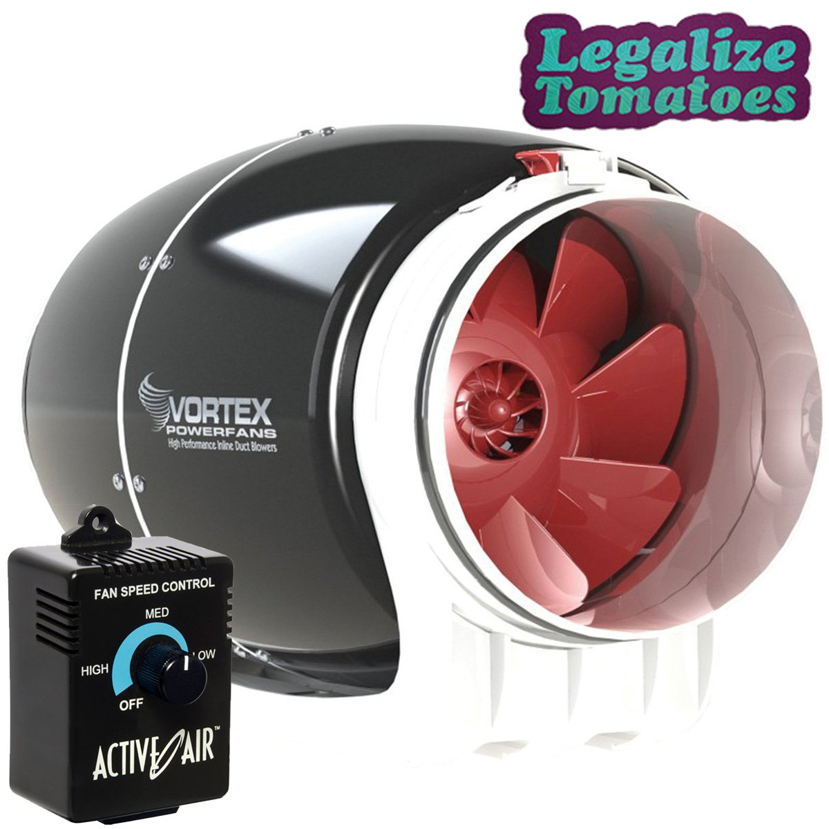 Vortex 6'' Inch S-Line 340 CFM Round Inline Exhaust Power Fan with FREE Active Air Controller and FREE Sticker | Aerodynamic Design for Optimized Cooling and Airflow | Maintenance-Free by Atmosphere (Image #9)