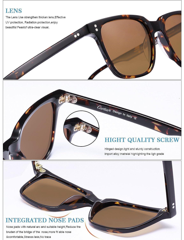 Carfia Klassische Herren Sonnenbrille UV400 Schutz Polarisierte ...