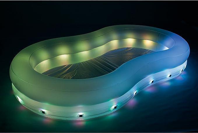 varilando LED de jardín de Pool planschbecken iluminado hinchable Jardín Piscina 280 cm: Amazon.es: Jardín