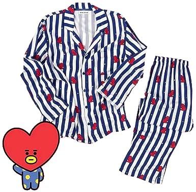 Amazon Emilyle レディーズ Bts 防弾少年団 パジャマ 長袖 かわいい