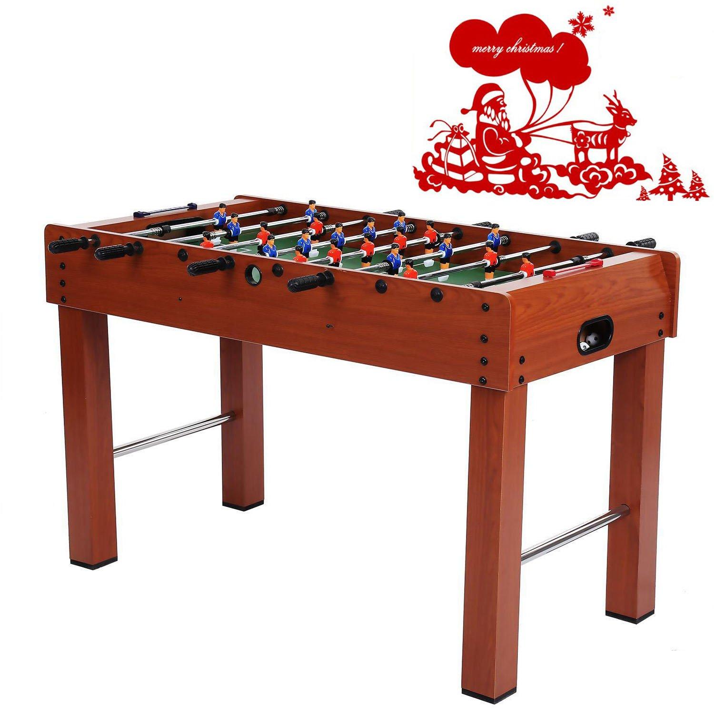 mewalker 48-inchテーブルサッカーテーブルゲームテーブルサッカーCompetition複数のプレーヤーの2 Soccersと8ハンドルバーインドア&アウトドアクリスマスギフト(米国Stock )  wood color B0785GZQ92