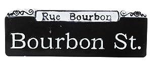 Bourbon St. Rue Bourbon Street Sign French Quarter New Orleans Souvenir Refrigerator Magnet