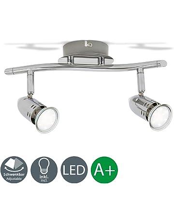 Lámpara de techo con focos giratorios y orientable incl. 2x3W LED bombillas GU10 230V,