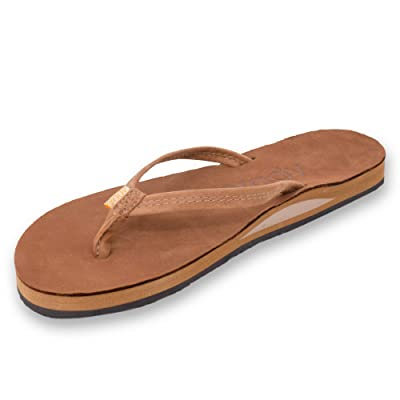 Brady Goods Women's Nubuck Premium Leather Single Layer Arch Sandals | Flip-Flops