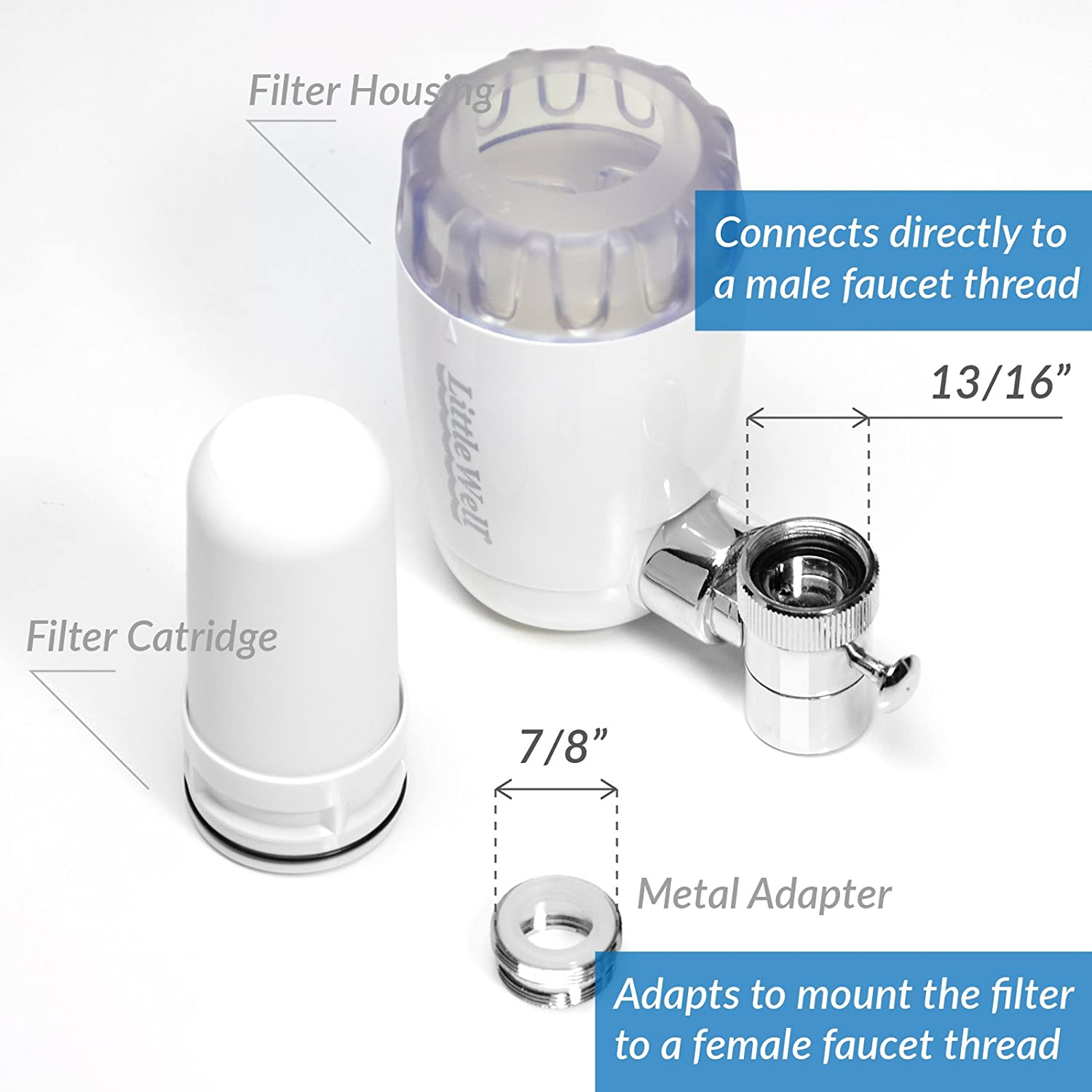 ispring dfc1 littlewell faucet mount water filter with multi layer