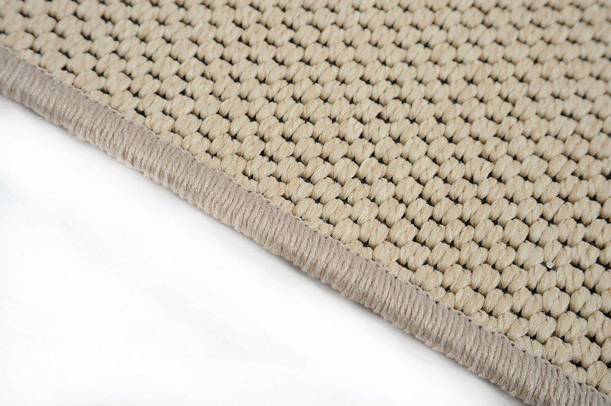 Flachgewebe Teppich Läufer Sahara Beige nach Maß - versandkostenfrei robuste Kunstfaser in Sisal-Optik schadstoffgeprüft pflegeleicht strapazierfähig dekorativ Wohnzimmer Schlafzimmer Büro Flur Diele, Größe Auswählen:100 x 1450 cm