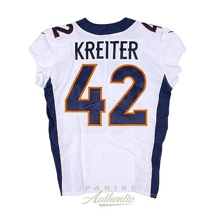 los angeles b8449 cea20 Casey Kreiter Game Worn Denver Broncos Jersey/Pant Set From ...