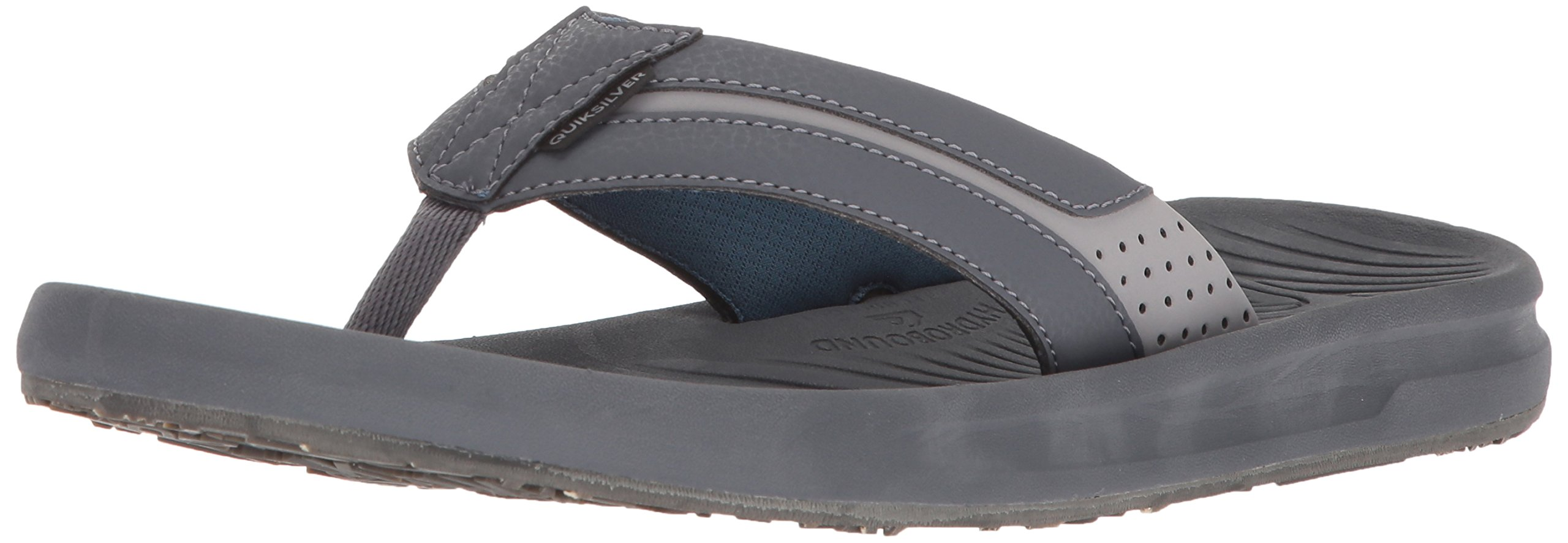 Quiksilver Men's Travel Oasis Sandal, Grey/Brown/Blue, 14 M US