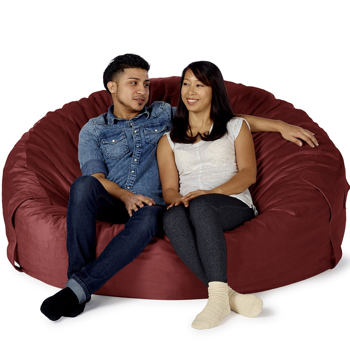Amazon Take Ten Giant 60 Luxury Bean Bag Chair Multiple Colors Seats 2 Adults Durable And Comfortable Kitchen Dining
