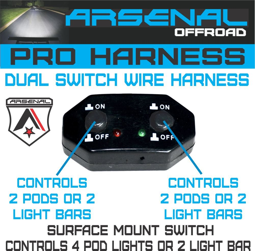 Amazon.com: NO.1 DUAL SWITCH Pro Universal Wire Harness Controls 4 ...