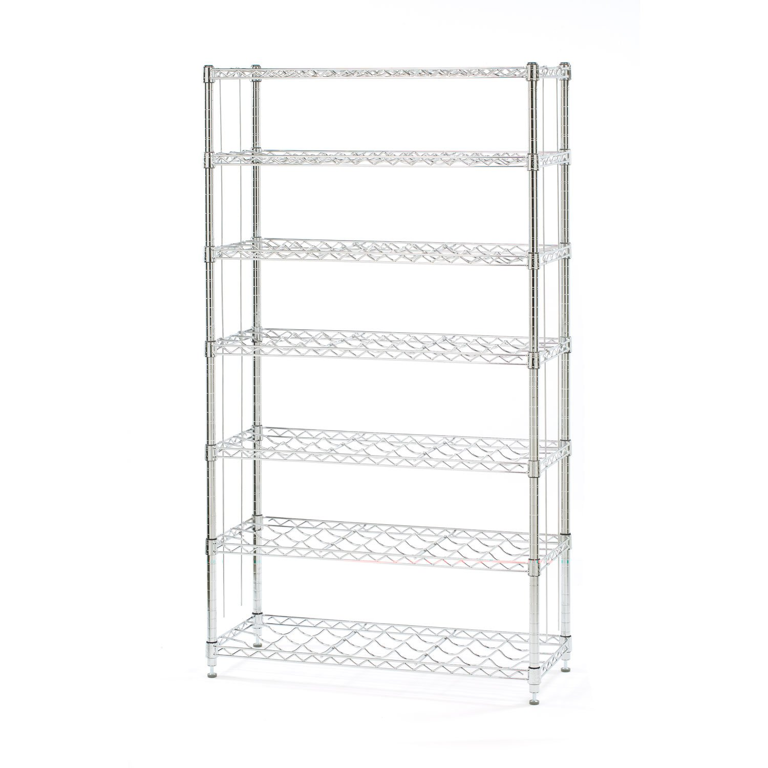 Seville Classics 168-Bottle 7-Shelf Wine Rack, NSF Listed