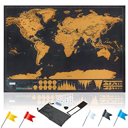Osup scratch off world map poster xxl with scratchers stickers and osup scratch off world map poster xxl with scratchers stickers and flags scrape off gumiabroncs Choice Image