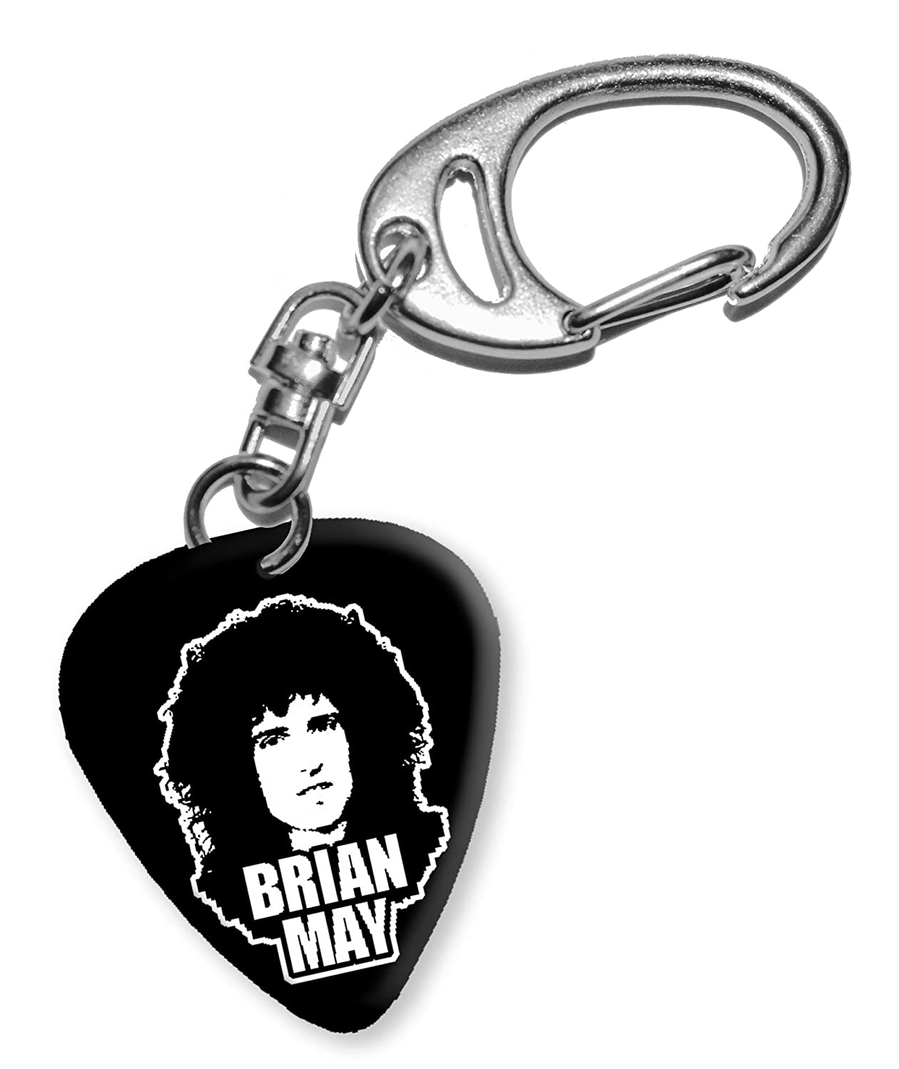 Brian May Queen Diseño 1 guitarra Púa Keyring llavero bweg: Amazon ...