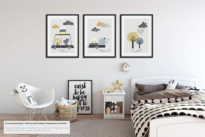 Set Kinderzimmer Babyzimmer Poster A4 Optional Mit Bilderrahmen