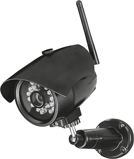 Surveillez avec  Smartphone ou Tablette Trust Smart Home Cam/éra IP WiFi avec Vision Nocturne