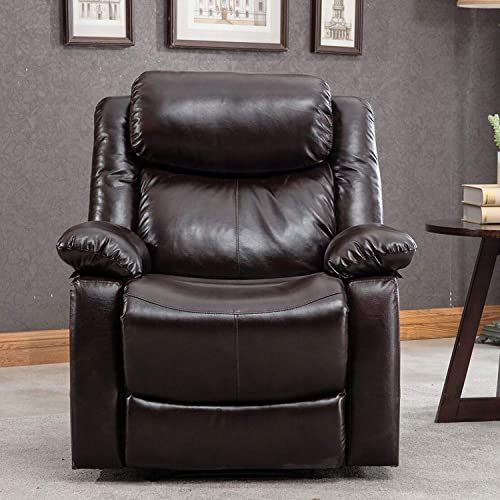 Harper Bright Designs Recliner Chair Recliner Sofa Manual Reclining Sofa Seat Leather Recliner Sofa Set