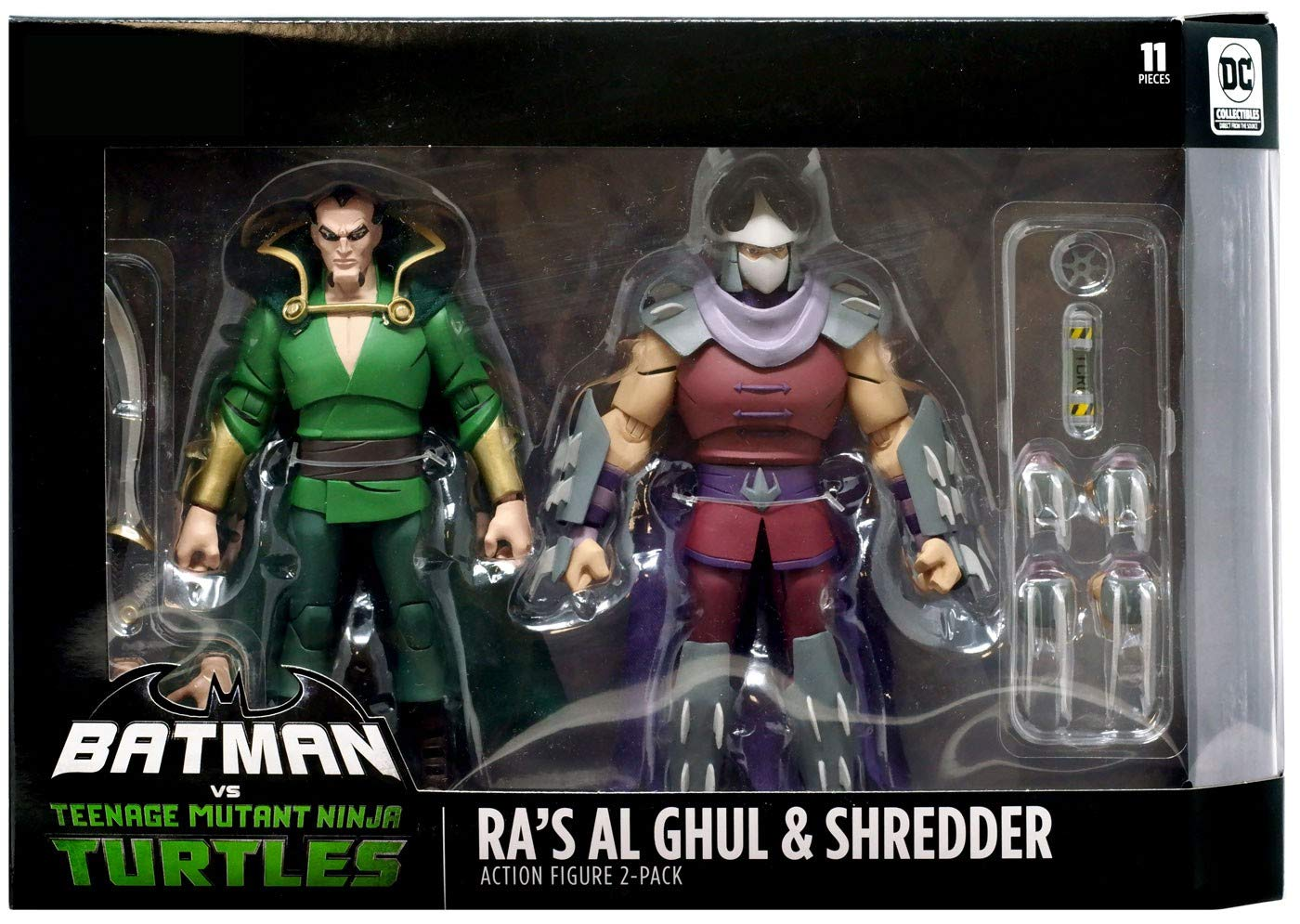 DC Collectibles Batman Vs Teenage Mutant Ninja Turtles - Ra's Al Ghul & Shredder Figure 2 Pack Exclusive