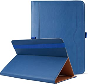 """ProCase Universal Case for 9-10 inch Tablet, Stand Folio Universal Tablet Case Protective Cover for 9"""" 10.1"""" Touchscreen Tablet, with Adjustable Fixing Band and Multiple Viewing Angles -Navy"""